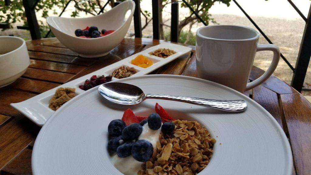 Healthy breakfast at Sierra Grande Hotel.