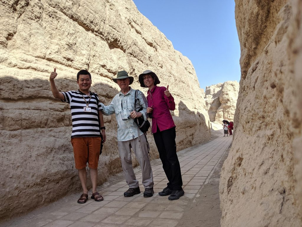 Tourists at the ancient kingdom of Yarkhoto