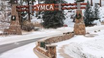 Winter entrance to YMCA of the Rockies, Estes Park, Colorado
