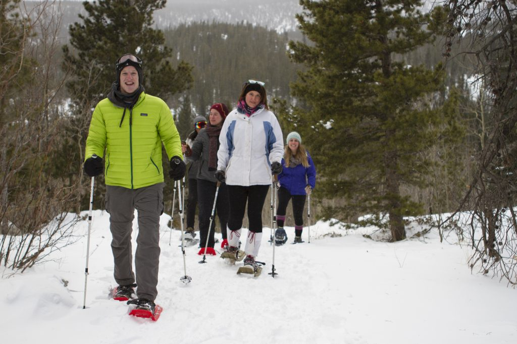 snowshoeing in Rocky Mountains National Park