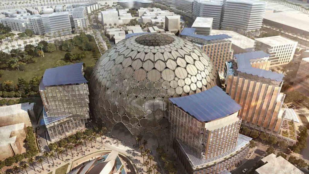Rendering of Al Wasl Pavilion at Dubai World Expo 2020