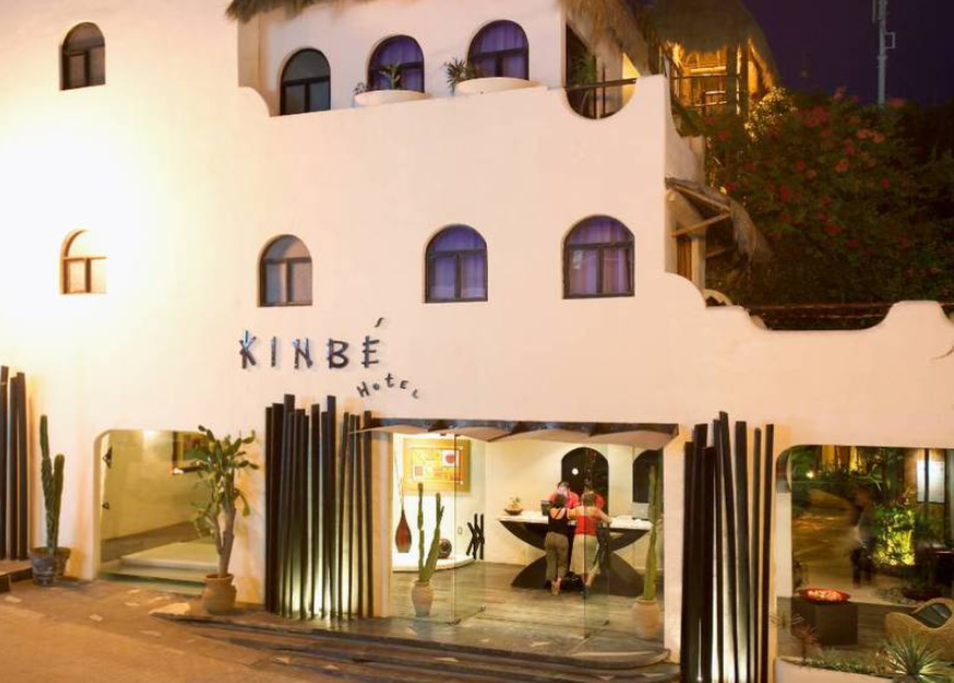 The small budget style Hotel Kinbe is just off 5th Avenue in Playa del Carmen.