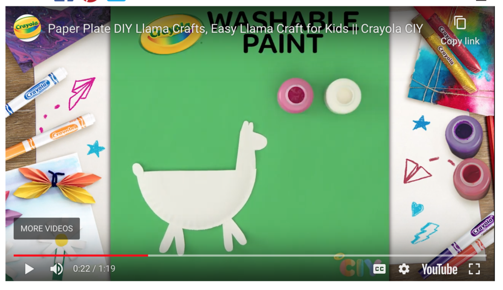How to Make a Llama with Crayola supplies
