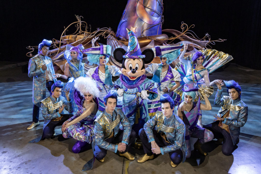 "Cast in backstage rehearsal of the ""Magic Happens"" parade set to debut at Disneyland Park"