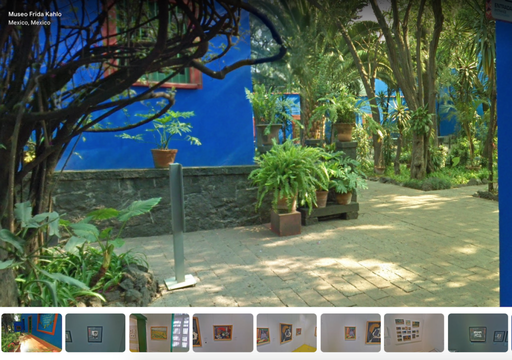 Google Arts virtual tour of Frida Kahlo Casa Azul