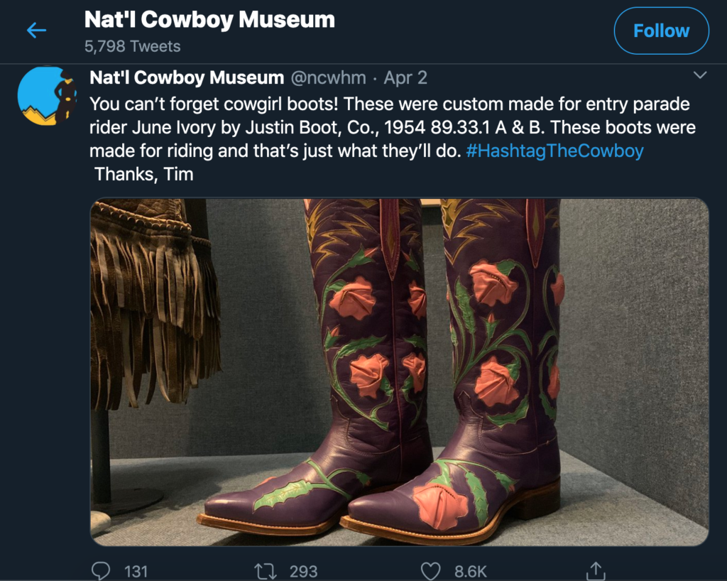 Tweet from National Cowboy Museum