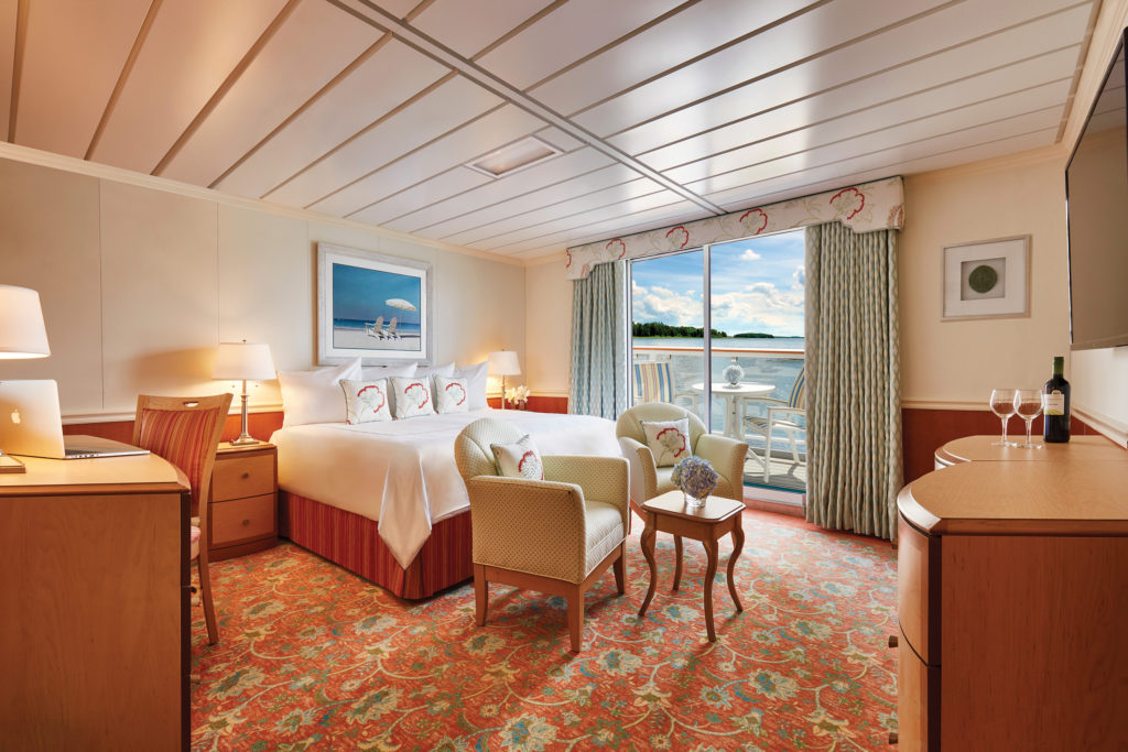 Verandah suite on an American Cruise Lines boat.