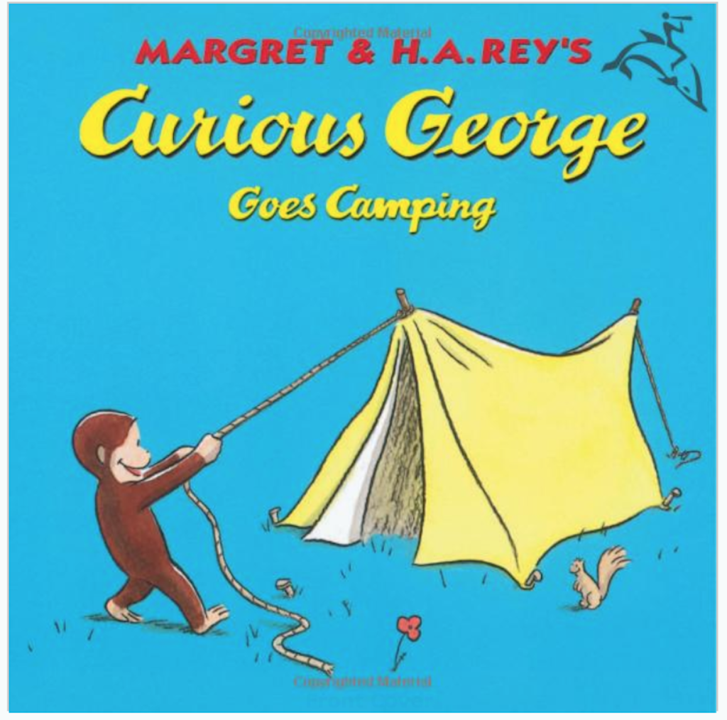 Curious George Goes Camping book cover