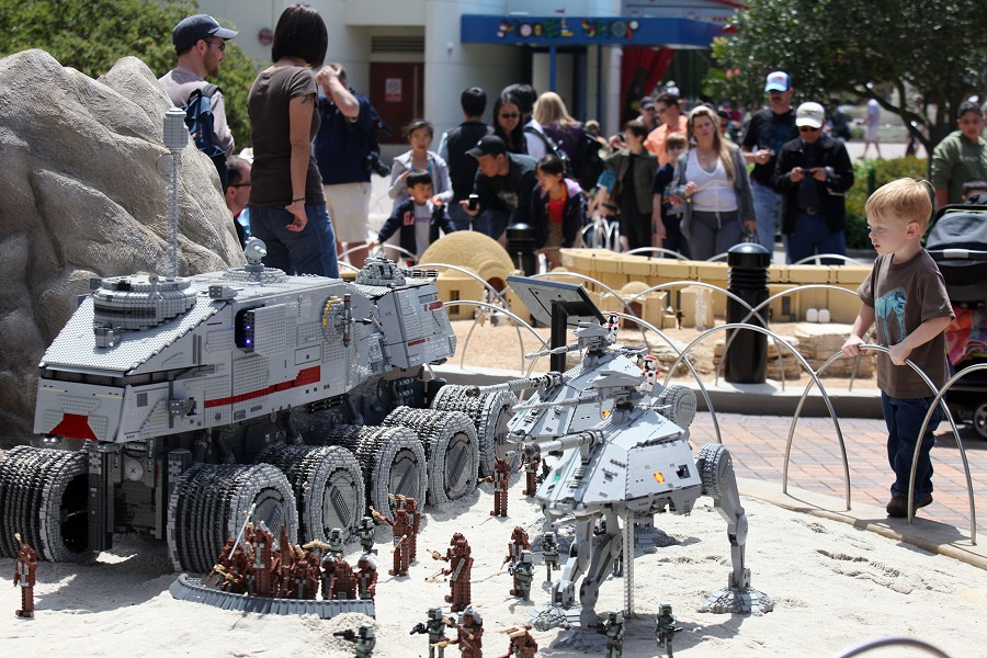Star Wars section of Legoland California Miniland