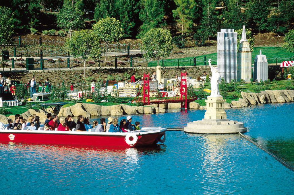 Legoland California's Miniland has a cruise along the New York coast.