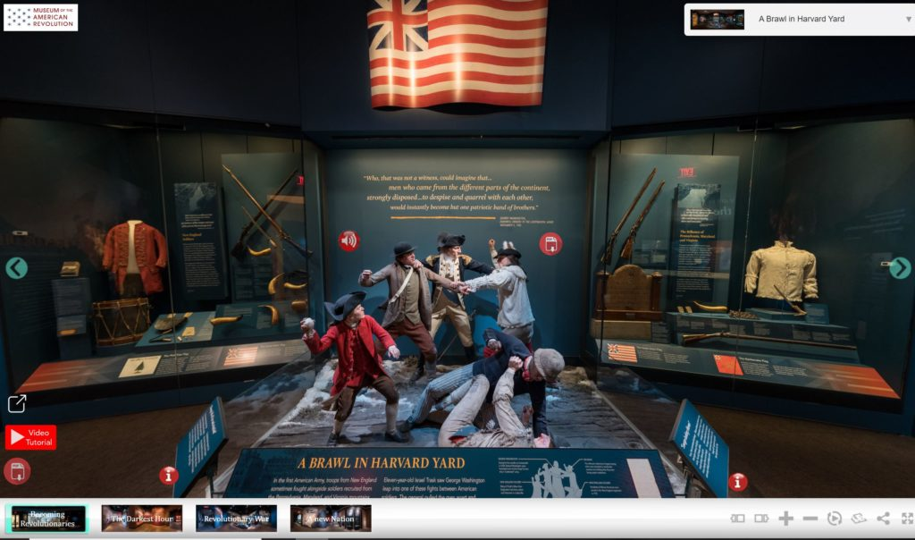 VR view of exhibit at Museum of the American Revolution, Philadelphia