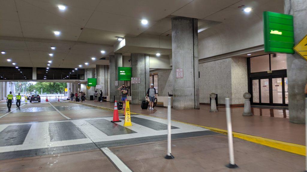 West Palm Beach Airport, empty arrivals lane