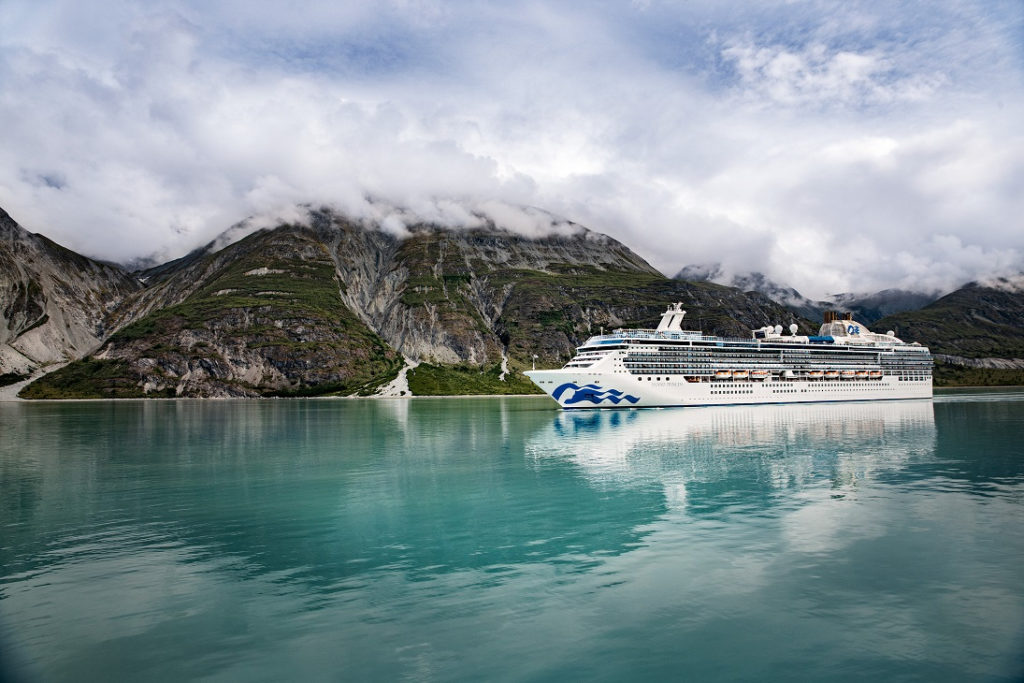 Island Princess in Glacier Bay, Alaska