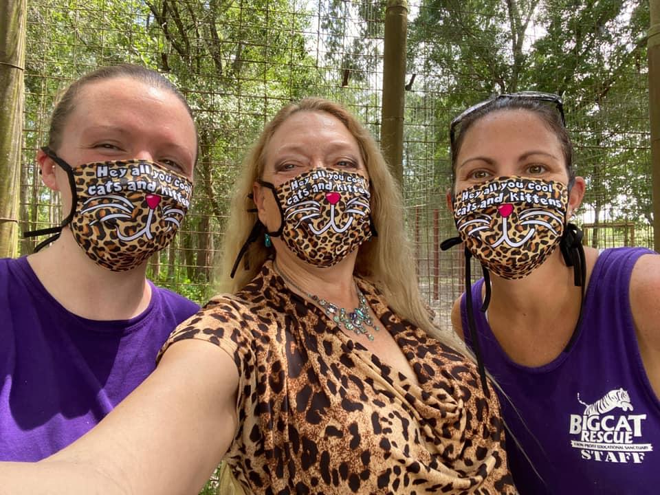 Big Cat Rescue team in facemasks