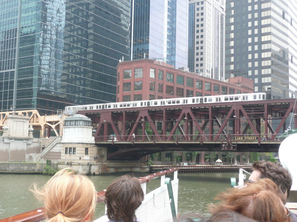 Chicago River and L Train