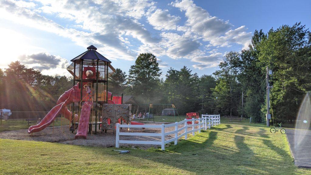 Jellystone Park playground at dusk.