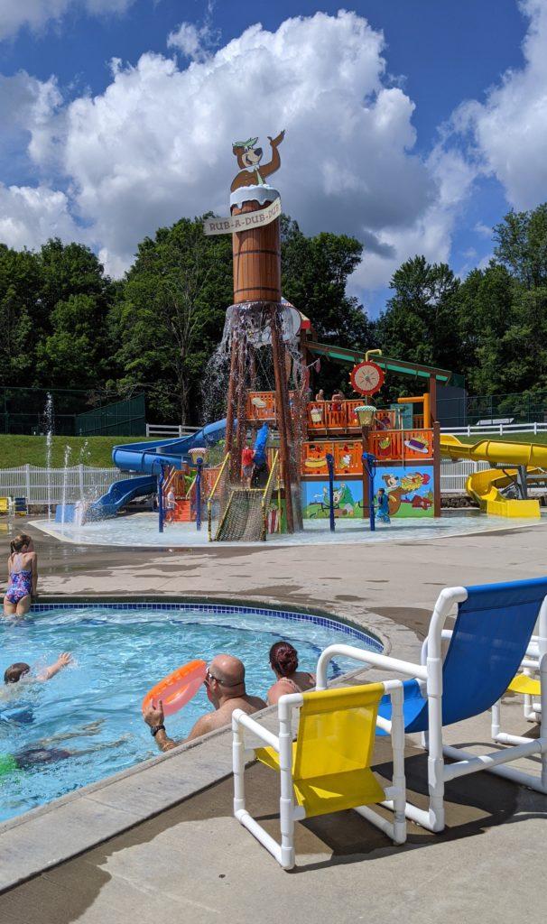 All ages having fun at Yogi Bear's Splash Park at Jellystone Camp-Resort.