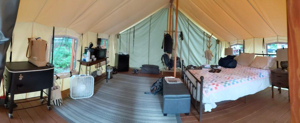 Panoramic view of Keen Lake Glamping Tent