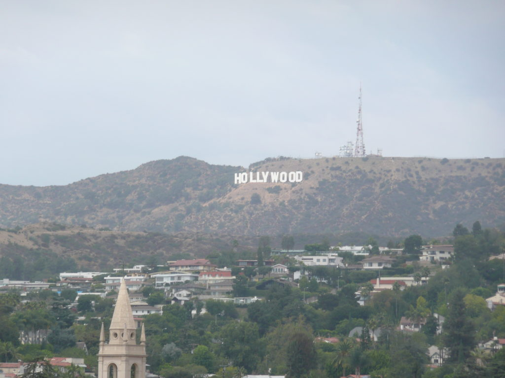 Hollywood Sign in the hills of Los Angeles.