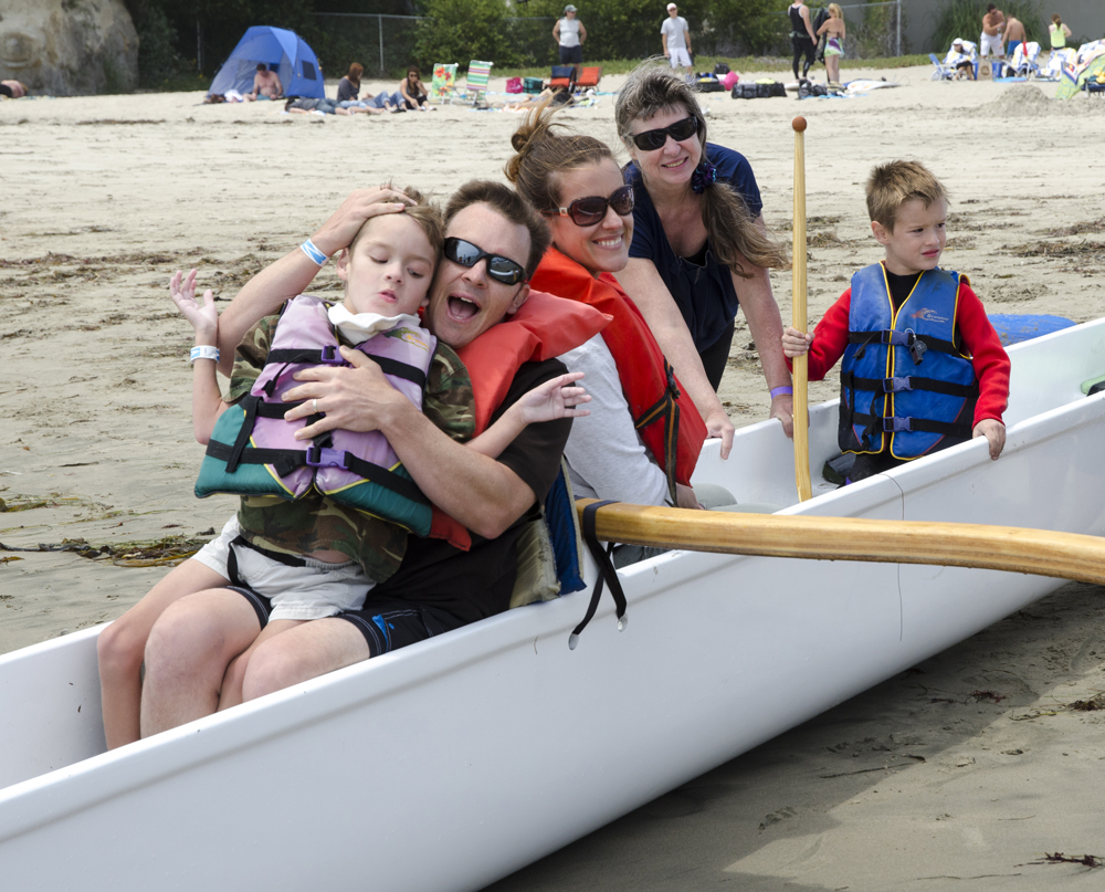 Canoe outing with special needs children from Shared Adventures, California