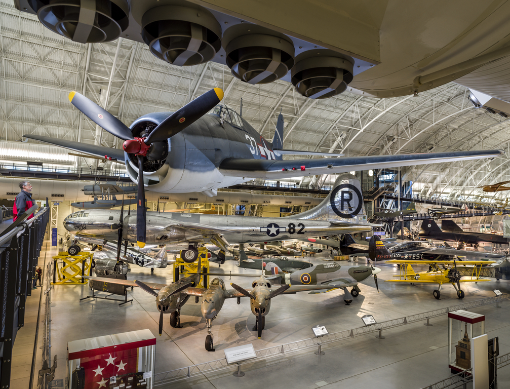 WW2 Aviation display at the Udvar-Hazy Center.