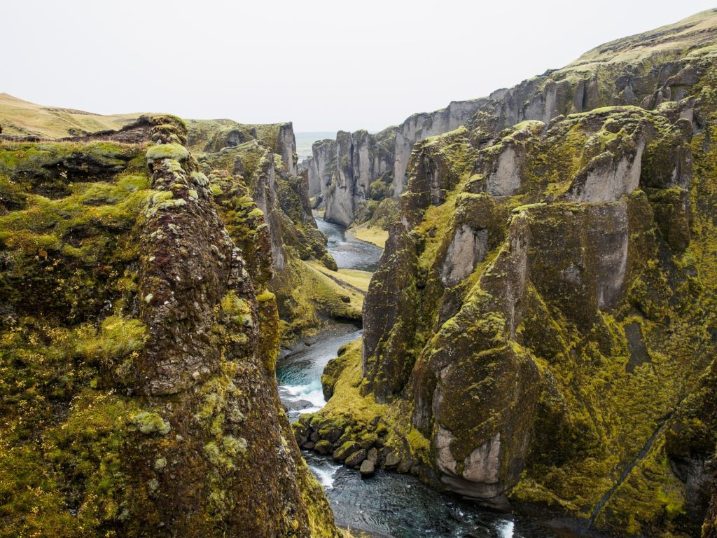 North American and Eurasian Tectonic plates meet at TÞingvellir National Park