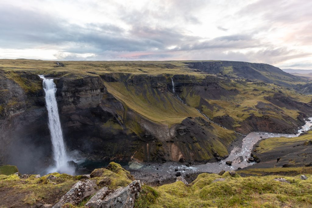 Haifoss waterfalls in Iceland