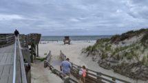 Nags Head beach on a cloudy day