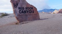 Entry market to Red Rock Canyon National Conservation Area