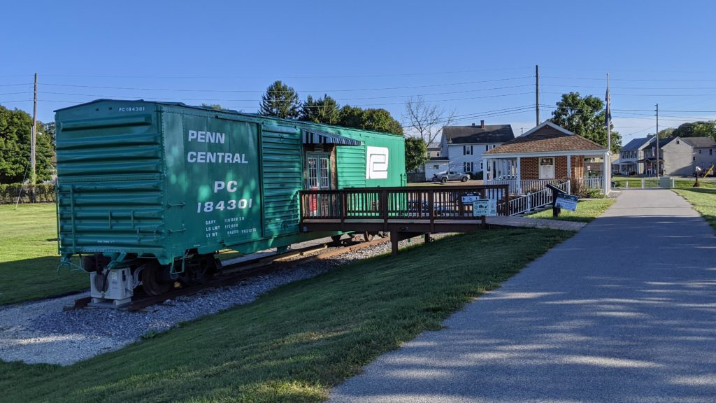 Cumberland Valley Rail Trail Museum in old Penn Central Boxcar.