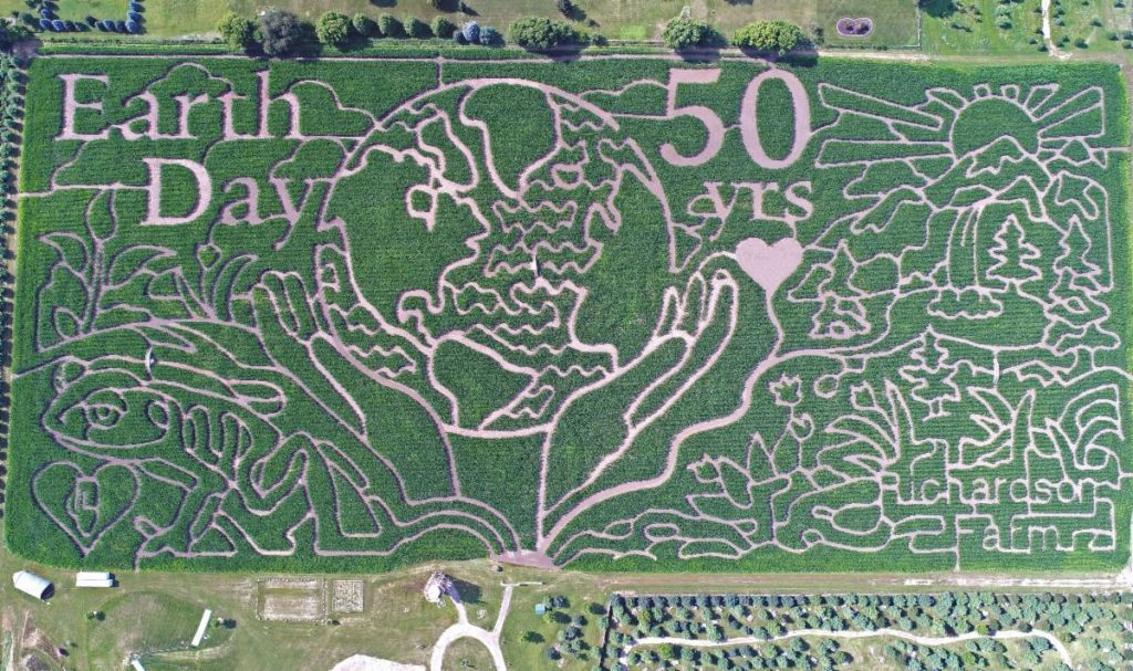 Peter Pan themed corn maze for 2020 at Richardson Farm