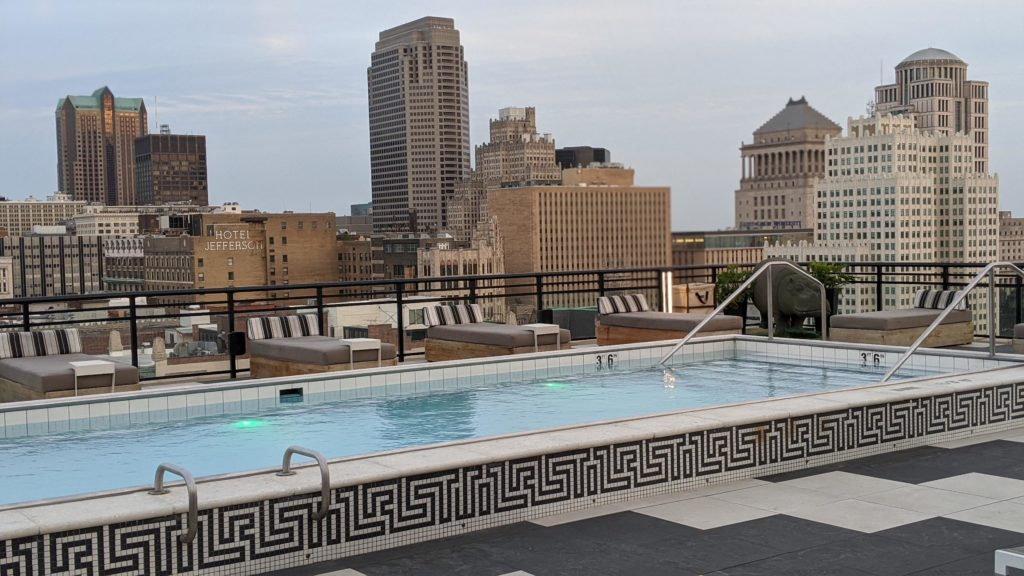Rooftop pool at The Last Hotel in St. Louis