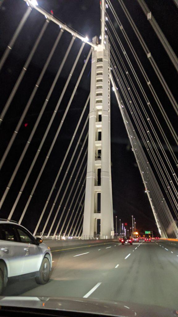 The Oakland Bay Bridge on I-80.