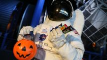 Space Center Houston gets into the Halloween Spirit with astronauts trick or treating.