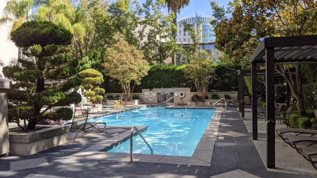 Pool and sundeck at the Hyatt Regency Hotel, Sacramento.