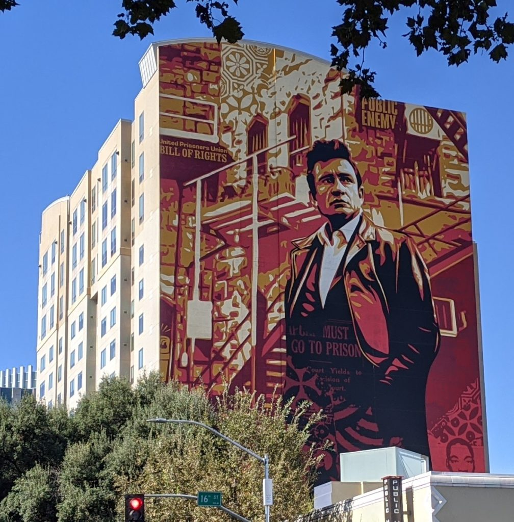 Johnny Cash mural at 16th Street in Sacramento