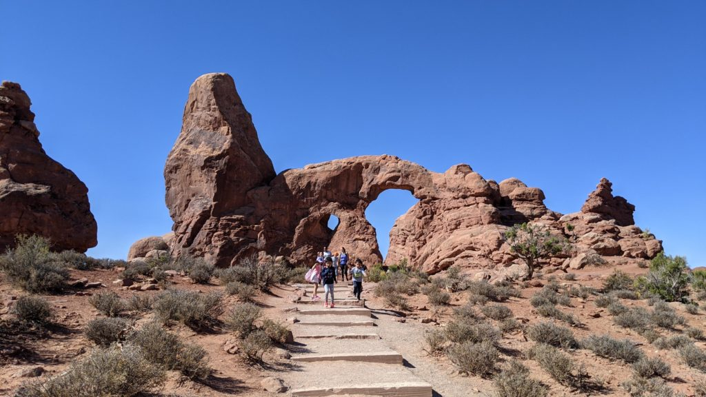 Turret Rock at Arches National Park