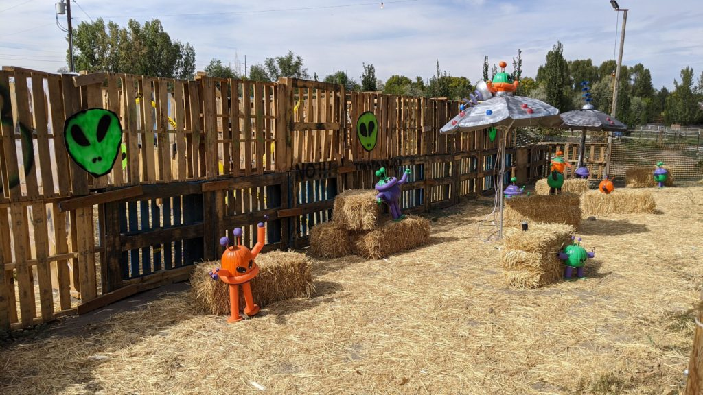 Wheeler Farm Halloween themed pumpkin patch.
