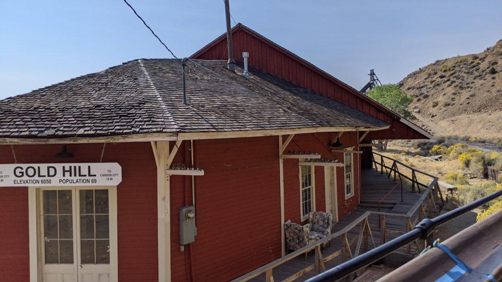 Goldhill Railroad Station in Virginia City, Nevada