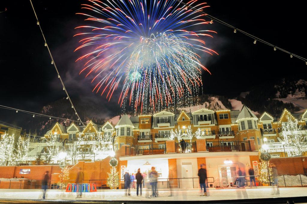 Fireworks over Aspen Mountain, Colorado