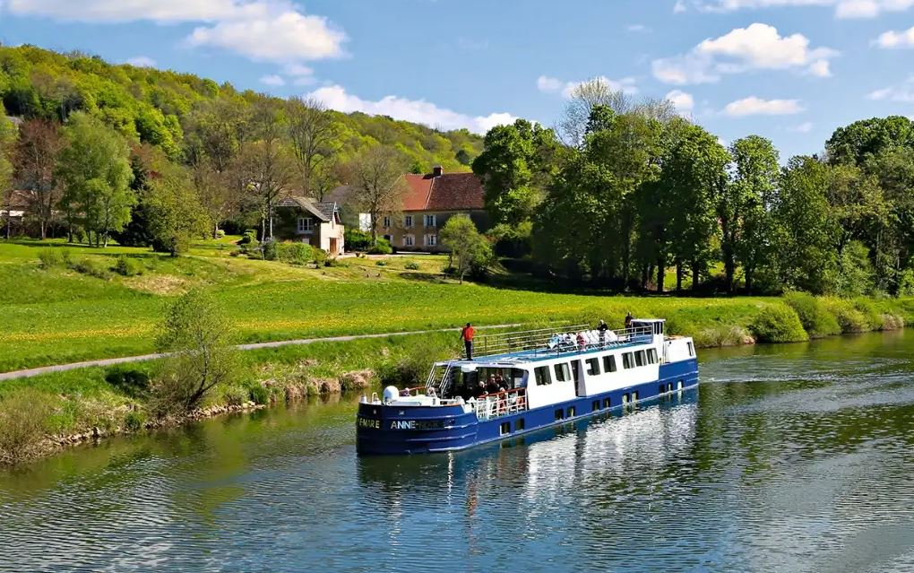 Croisieurope Barge on canal in France