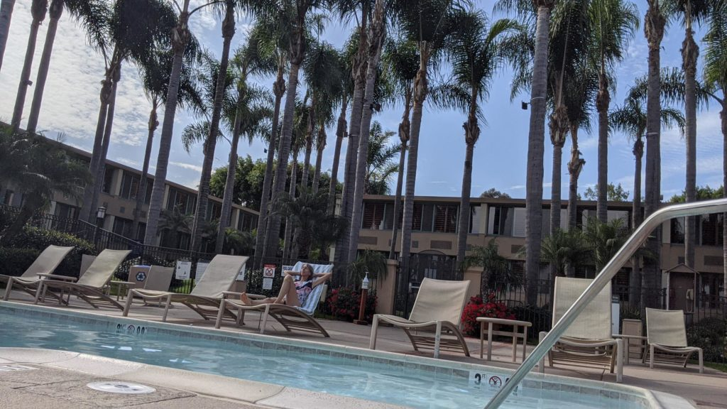 Big California style pool and sundeck at the Sheraton La Jolla.