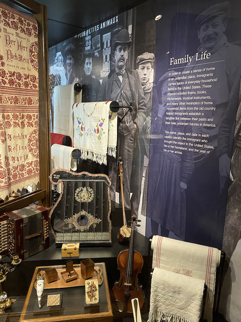 Family life of immigrants exhibit at Ellis Island National Museum of Immigration.