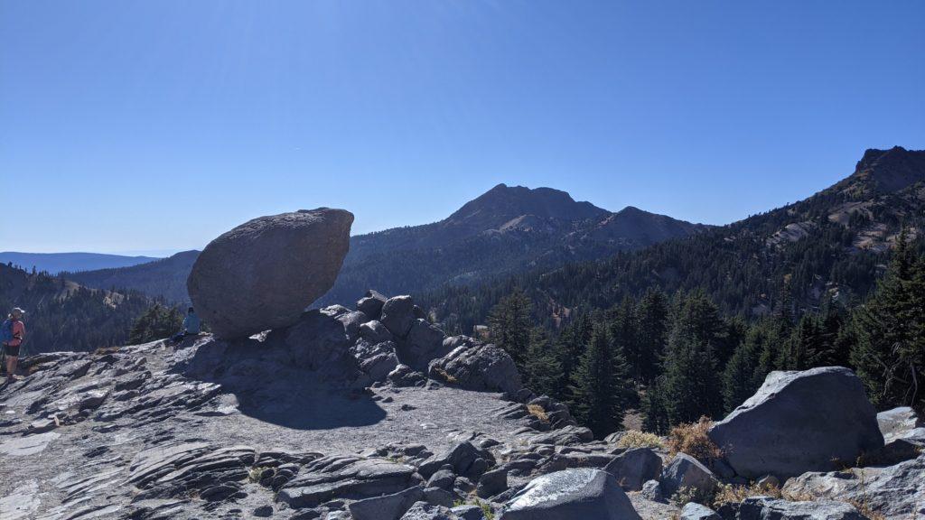 Stray boulder at Lassen Volcanic National Park, California