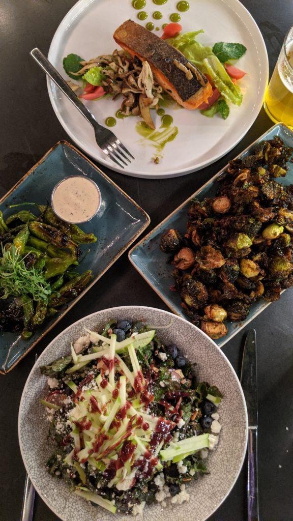 gourmet meal at Mosaic in Redding, California