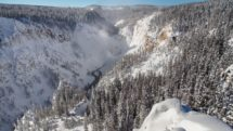 Grand Canyon of the Yellowstone River in winter. Photo by Jake Frank for NPS.gov