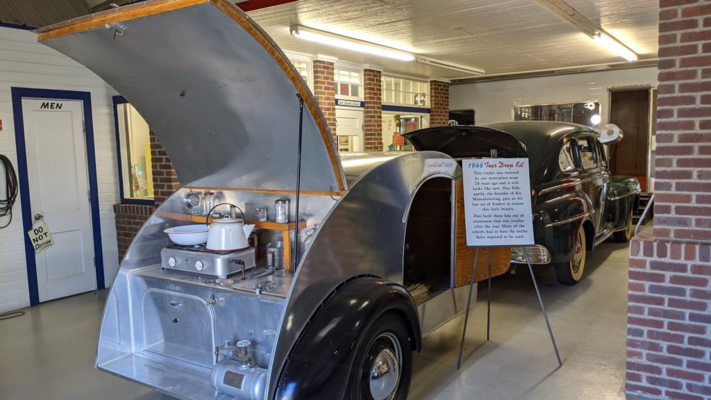 A Tear Drop camping trailer from 1946 at Sisemore RV Museum in Amarillo.