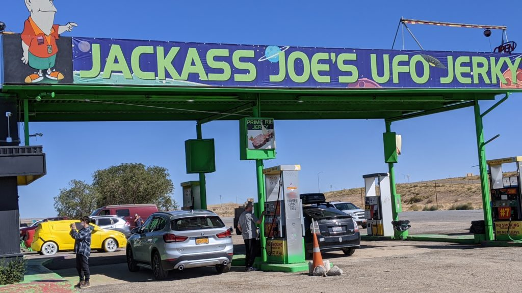 Jackass Joe's gas station and truck stop on 191 near I-70.