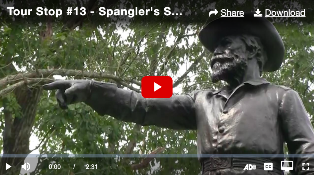 First Screen from the NPS video tour of historic Gettysburg Battlefield