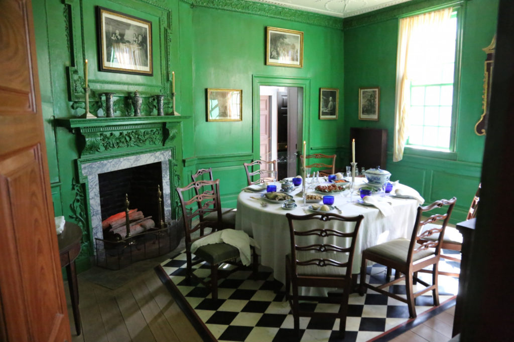 Newly refurbished breakfast room at Mount Vernon. Photo by MVLA.